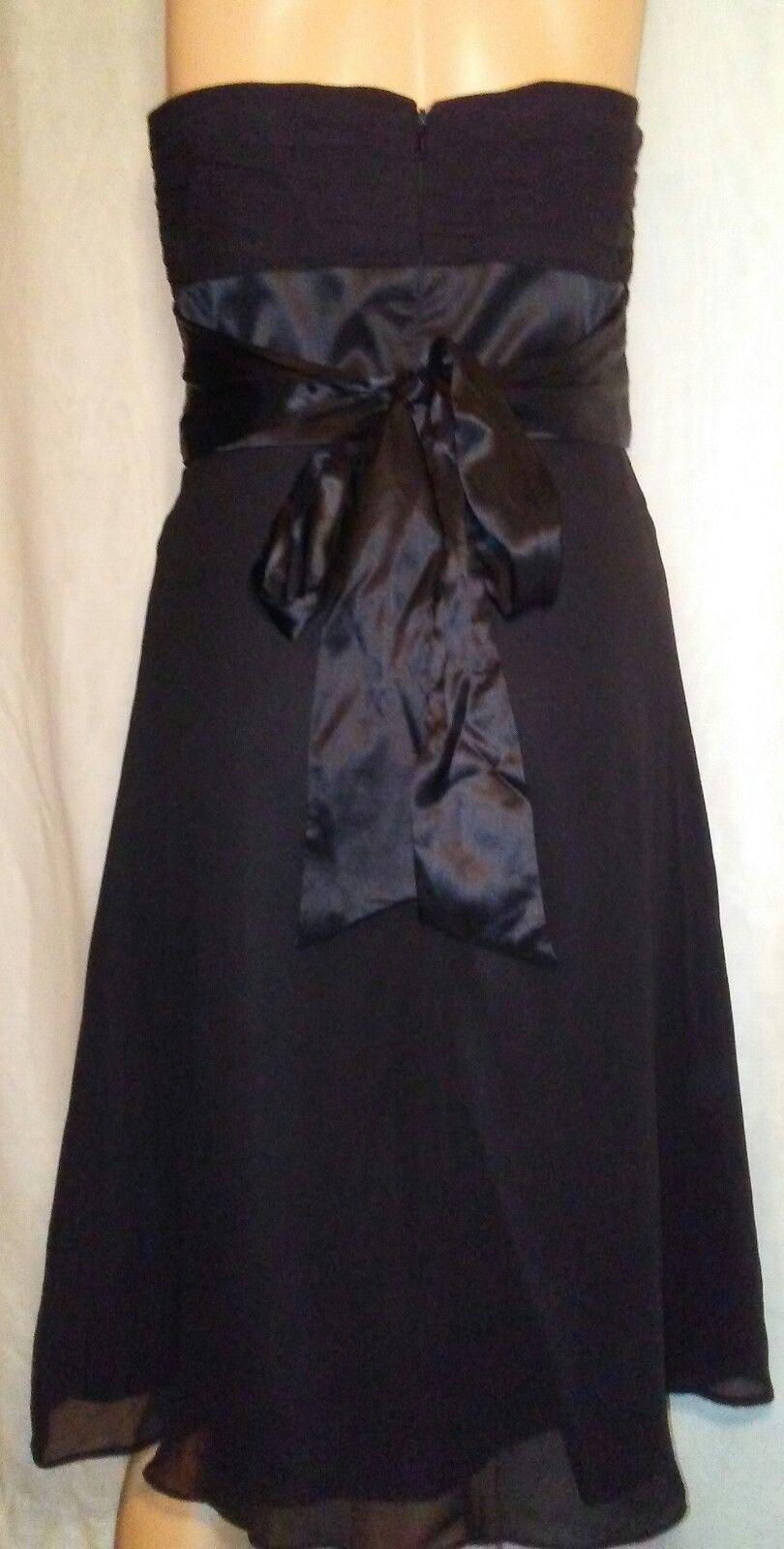 White House Black Market Silk Strapless Dress Size 2 Party Cocktail Formal