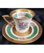 ROSENTHAL 5841 Demitasse Cup/Saucer GOLD ENCRUSTED  FLORAL (multiple ava... - $46.71