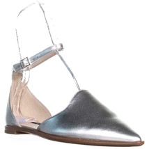 Nine West Oriona Bout Pointu Plat Sandales, Argent - $68.72