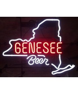 """New genesee beer Neon Sign real glass tube 17""""X14"""" - $95.00"""