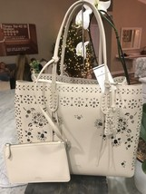Polo by Ralph Lauren Laser Cut & Studded Floral Lg Slouchy Shoulder Tote... - $179.00