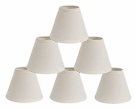 Urbanest Mini Chandelier Lamp Shades 6-inch, Cotton, Hardback, Clip On, Eggshell - $36.62