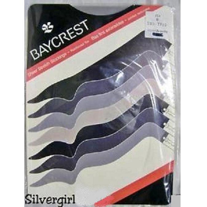 Vintage sheer stretch stocking reinforced cross dresser silver
