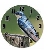 Sugar Vine Art Tree Swallow Bird Silent Non Ticking Round Battery Operat... - $24.29