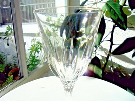 "Cris D' Arques Castel Pattern Clear Crystal Wine Glass 8 1/8"" Tall - $9.90"