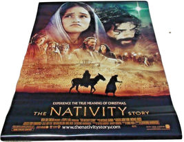 2006 THE NATIVITY STORY Original Movie Theater Banner Poster 48x70 Scuff... - $59.99