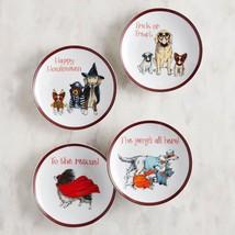 NWT Pier 1 set of 4  halloween  dogs apetizer plates - £13.56 GBP
