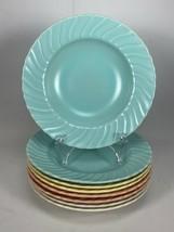 "8 Mid-Century Coronado Swirl By Franciscan 8.5"" Soup Coupe Bowls Multi-C... - $79.19"