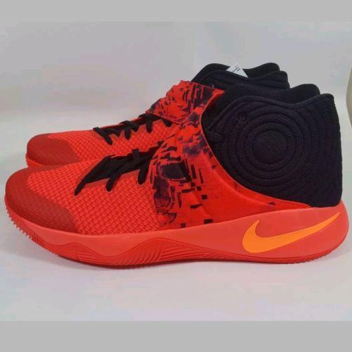 Nike Kyrie 2 Inferno Bright Crimson Atomic Orange Black Red 819583-680 Sz 18