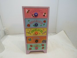 Cute & Colorful Wooden Painted Jewelry Box - $14.84