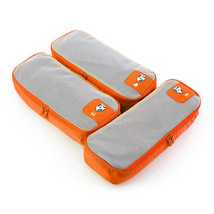 Heys Pack ID 3 pc Slim Packing Cube Set Orange 30072-00012-00 - $377,46 MXN