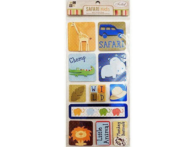 DCWV Safari Kids Foiled Stickers #CP-012-00051