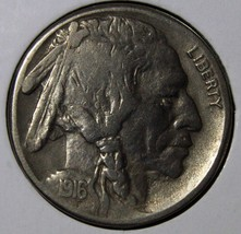 1916S Buffalo Nickel 5¢ Coin Lot # EA 299