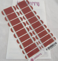 Jamberry Borderline Marsala 1Q12 Nail Wrap  Full Sheet - $15.98