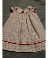 Marmellata Girls Size 2t Smocked cherries red white polka dot Dress - $15.88