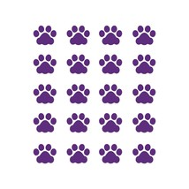 LiteMark 1 Inch Purple Cat Paw Prints - Pack of 60 - $19.95