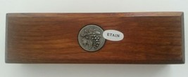 French Etain Pewter Grapes Wine Thermometer Wood Box Wood Cask Celcius - $19.21