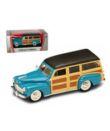 1948 Ford Woody Turquoise 1/43 Diecast Car by Road Signature 94251tur - $19.45
