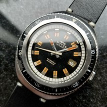 Royce Vintage Jumbo 43mm Automatic 1960s Rare Mens Swiss Diver SS Watch ... - $2,942.88