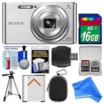 Sony Cyber-Shot DSC-W830 Digital Camera (Silver) with 16GB Card + Case +... - $158.39