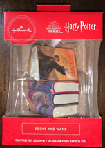Hallmark Ornaments 2020 Harry Potter Wizarding World Books & Wand Exclusive NEW - $24.74