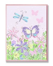 The Kids Room by Stupell Pastel Butterfly and Dragonfly Rectangle Wall P... - $38.97