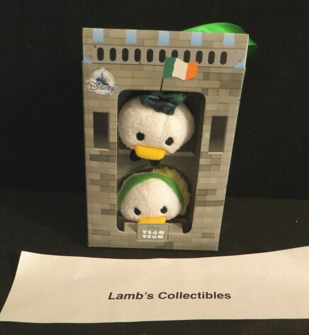 "Primary image for Disney Store Tsum tsum set of two Donald & Daisy in Ireland box 3.5"" plush toys"