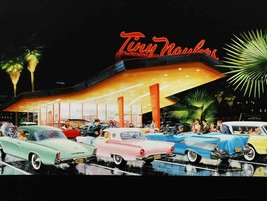 Tiny Haulers Diner with Classic Cars by Ken Eberts - $30.00