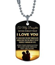 To My Daughter Dog tag - Never Forget How Special Necklace - Best Gifts ... - $19.75