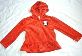 Gymboree Penguin Velour Hoodie 4T 5T red Winter Penguin - $12.82