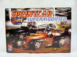 AMT SPRINTCAR SUPERMODIFIED 2 IN 1 DIRTTRACK RACER CAR MODEL KIT NEW 1:2... - $49.49