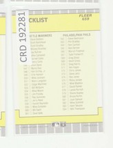 1989 Fleer #659 Checklist #491-584 CL  192281 - $0.98