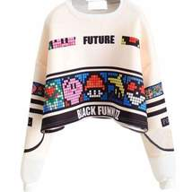 Cartoons Women's Cropped Swetear  Pullover - $25.98