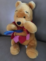 "Disney Store 12"" Plush Winnie The Pooh Bear Yellow Lg Stuffed Animal Toy Vtg - $14.80"