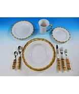 Natural Bamboo by Juliska Stainless Steel Complete Flatware and Dinnerwa... - $2,450.00