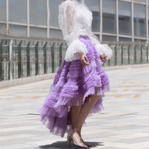 High-low Layered Tulle Skirt Outfit Plus Size Wedding Outfit Purple Tiered Skirt image 4