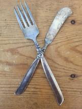 Vintage Oneida South Seas Silverplate Flatware Fork + Butter Spreader Knife - $15.99