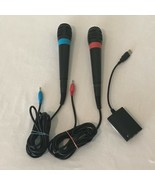 Sony PlayStation 2 Microphones Sing Star Red Blue USB Converter Dongle A... - $23.99