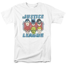 Justice League DC Heroes T-shirt comic book superfriends white cotton DCO745 image 2