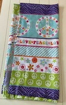 """Peace And Love Shower Curtain 70"""" by 71""""  - $18.23"""