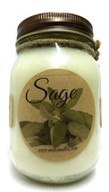 Sage 16oz Country Jar All Natural Handmade Soy Candle Approximate Burn T... - $15.00