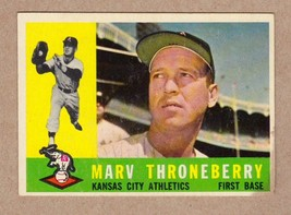 1960 Topps #436 Marv Throneberry New York Mets EXCELLENT condition - $3.19