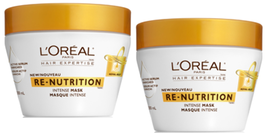 2 L'Oreal Hair Expertise Re-Nutrition Intense Hair Mask W/ Royal Jelly S... - $19.99