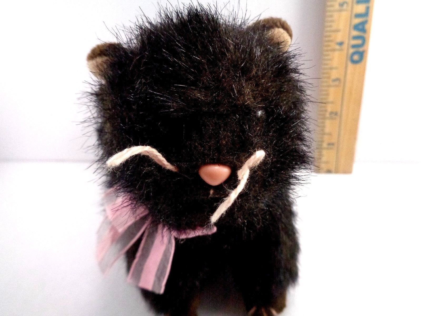 Halloween Ty Black Cat Heiress Pink Bow Plush Stuffed Animal Toy Doll image 3