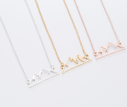 Origami Snow Mountain Necklaces & Pendants Mountain Range Pendant Necklace image 2