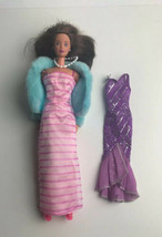 Barbie Doll Twist Turn Dresses Shoes Coat 1996 Mink Stole Pearls Vintage... - $14.85