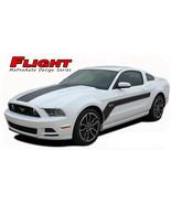 2013-2014 Ford Mustang Center Hood Hockey Body Stripes 3M Vinyl Graphic ... - $134.09
