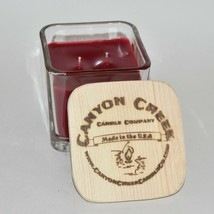NEW Canyon Creek Candle Company 9oz Cube jar POMEGRANATE scented Hand poured - $36.94