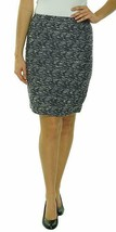 Calvin Klein Women's Textured Tweed Straight Pencil Skirt, Blue Combo Sz 2 - $43.97
