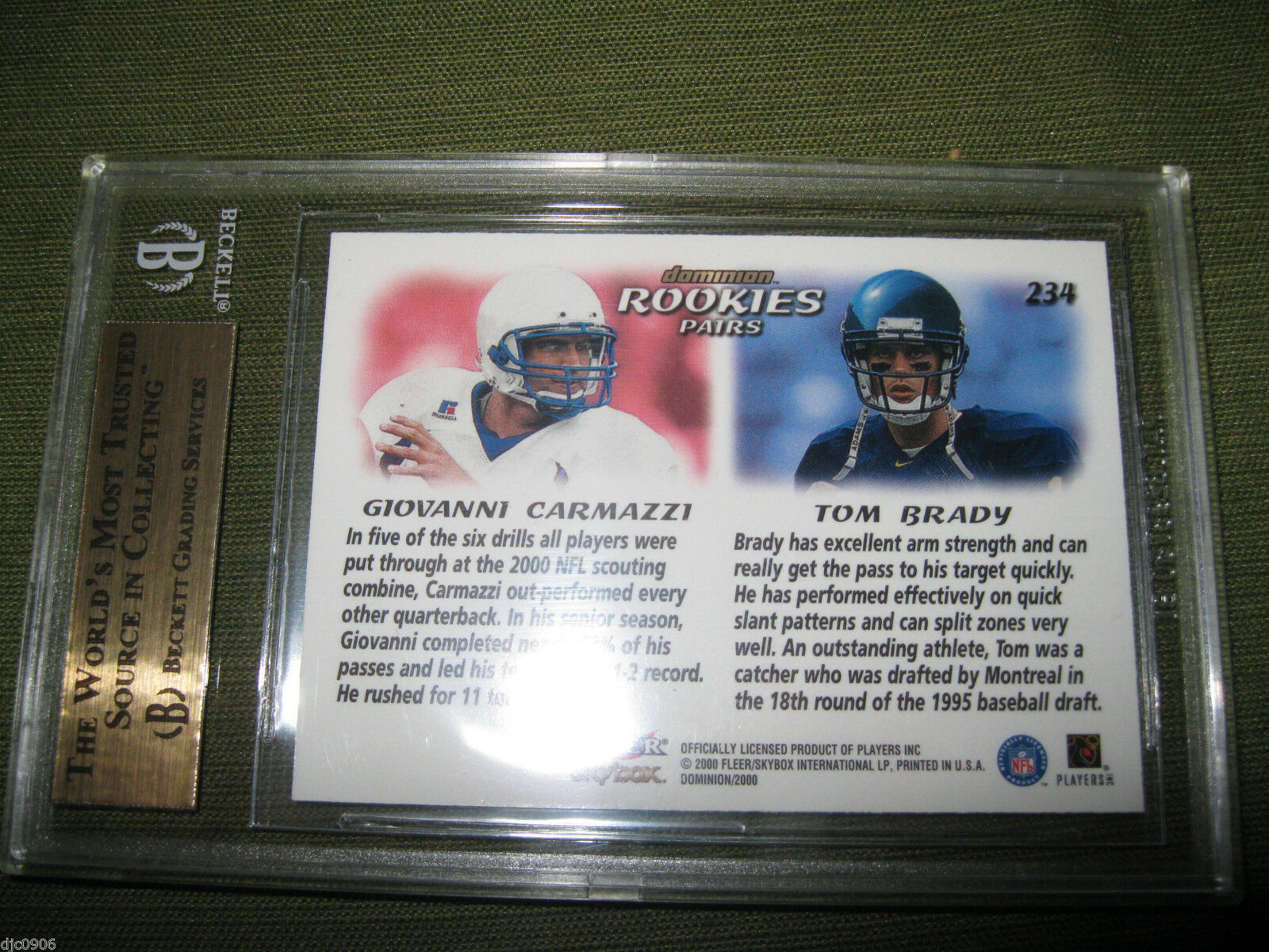 Brian Urlacher/Corey Moore RC 2000 Fleer Dominion Rookie Card-GEM MINT?-Bears image 3